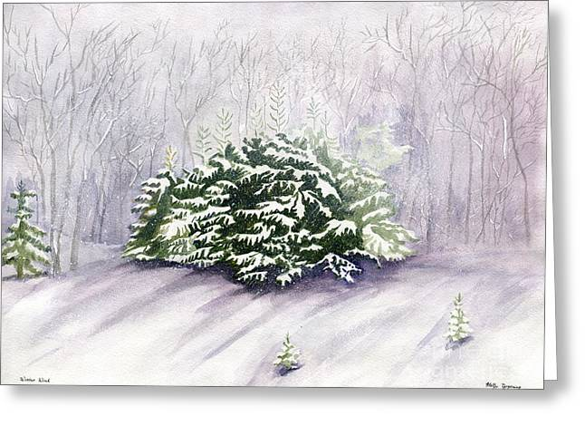 Greeting Card featuring the painting Winter Wind by Melly Terpening