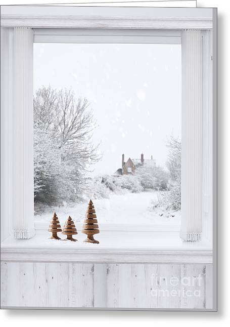 Winter Window Greeting Card