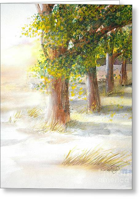 Winter Winds Greeting Card by Vivian  Mosley