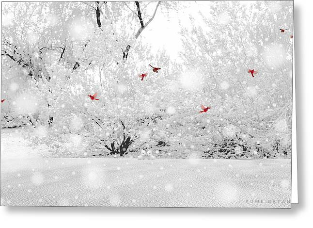 Winter, Winter Greeting Card by Kume Bryant