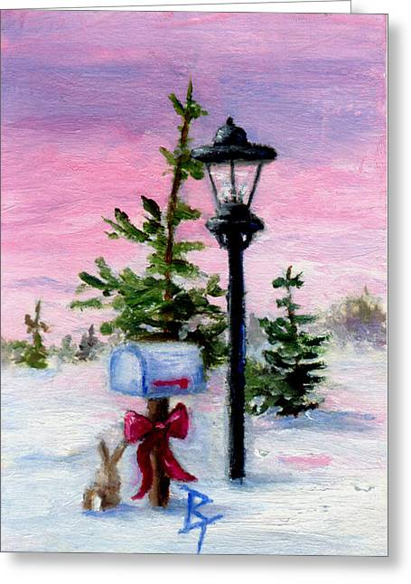 Winter Wonderland Aceo Greeting Card by Brenda Thour