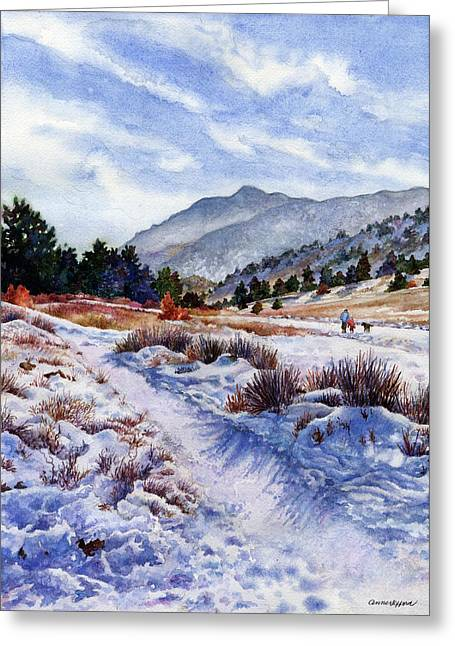 Winter Wonderland Greeting Card by Anne Gifford