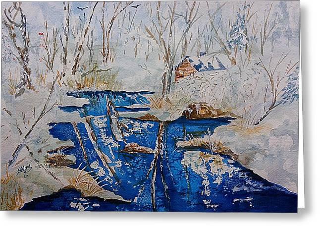 Winter Wonderland Catskills  Greeting Card by Ellen Levinson
