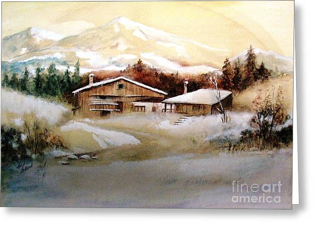 Greeting Card featuring the painting Winter Wonderland  by Hazel Holland