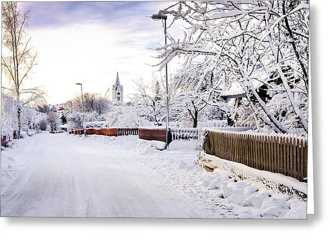 Winter Wonderland Greeting Card by Marius Sipa