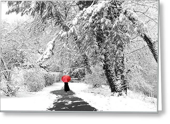 Winter Wonderland Walk Greeting Card