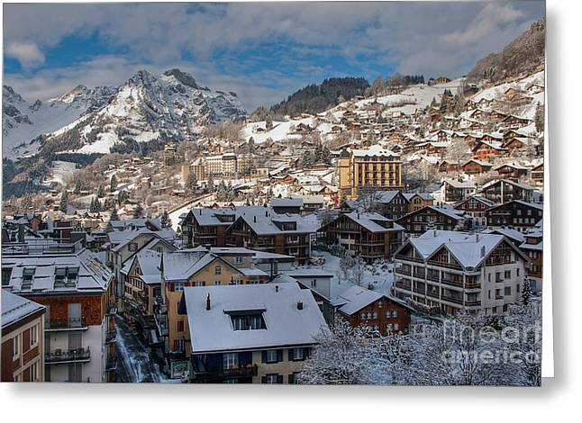 Winterland Engelberg Greeting Card