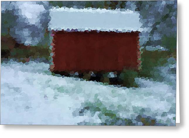 Winter's Blanket On Building Greeting Card