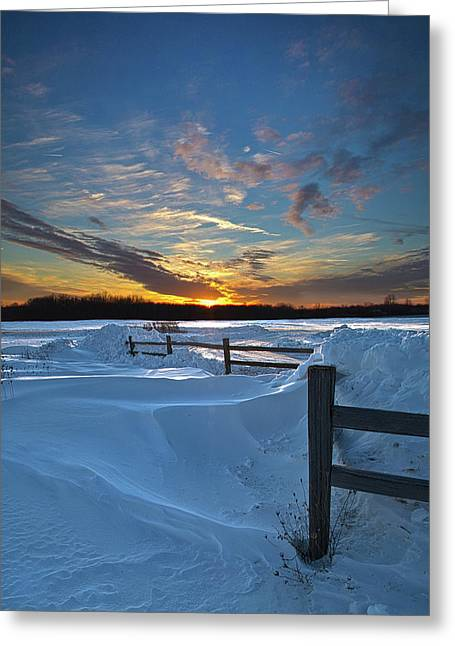 Snowscape Greeting Cards - Winters Border Greeting Card by Phil Koch