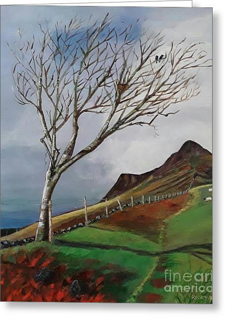 Winter's Day At Yewbarrow -painting Greeting Card