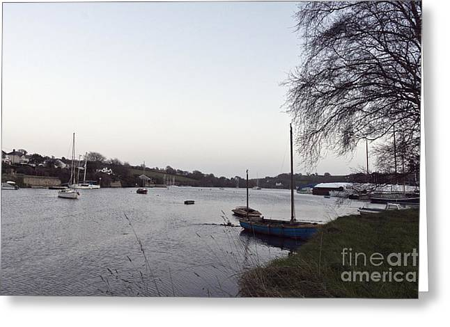 Winter's Day Dusk In Mylor Bridge Greeting Card by Terri Waters