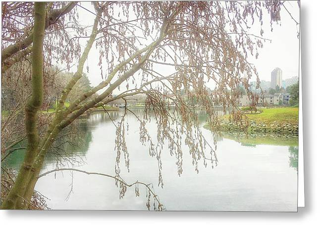 Greeting Card featuring the photograph Winter's  End  by Connie Handscomb