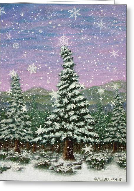 Winter's Eve 01 Greeting Card
