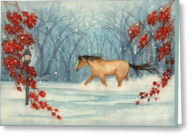 Winter's Eve Greeting Card