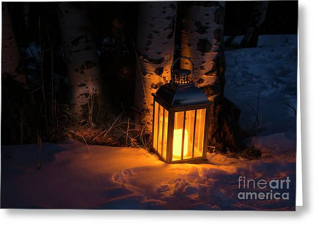 Greeting Card featuring the photograph Winter's Eve by The Forests Edge Photography - Diane Sandoval