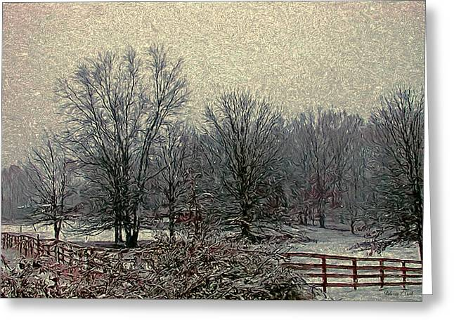 Winter's First Snowfall Greeting Card by Bellesouth Studio