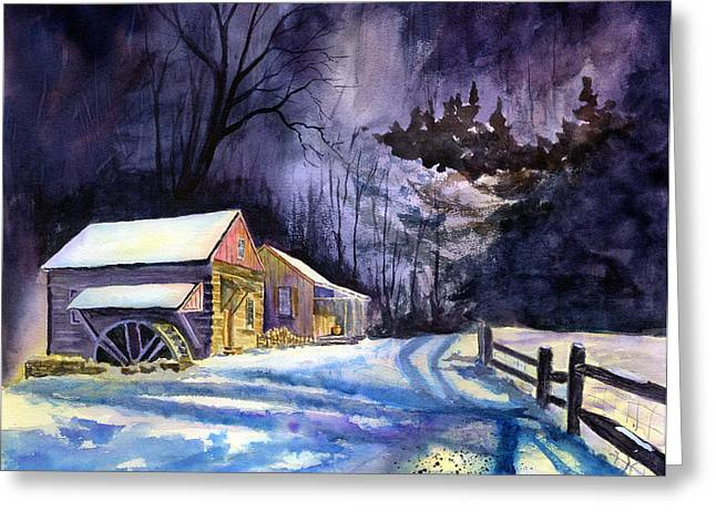 Winter's Grip Greeting Card by Paul Temple