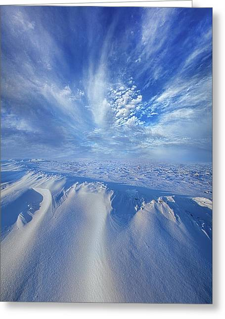 Greeting Card featuring the photograph Winter's Hue by Phil Koch