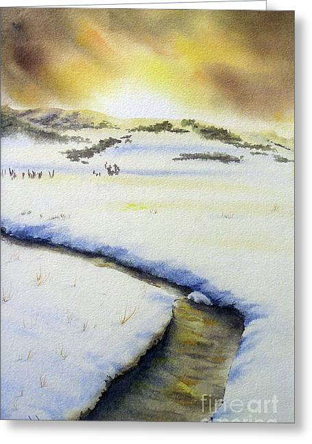Winter's Light Greeting Card