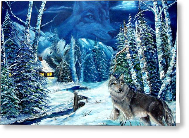 Winters Night 2 Greeting Card by Darlene Green