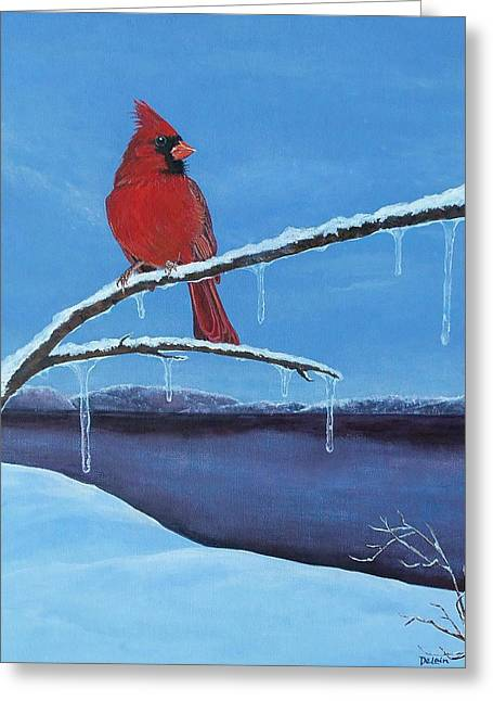 Winter's Red Greeting Card by Susan DeLain