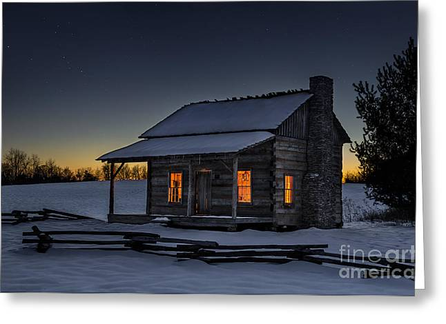 Winters Refuge Greeting Card by Anthony Heflin