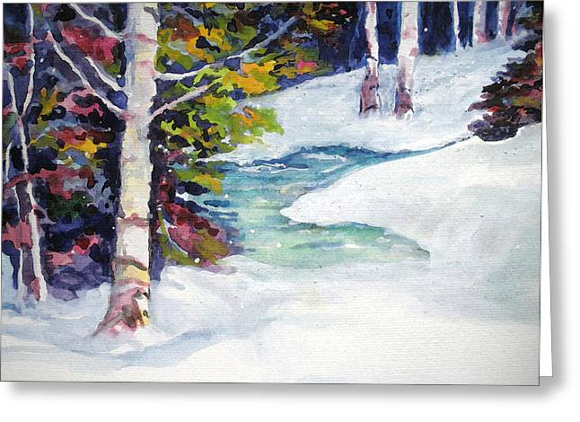 Winter's Solace Greeting Card by Mary Sonya  Conti