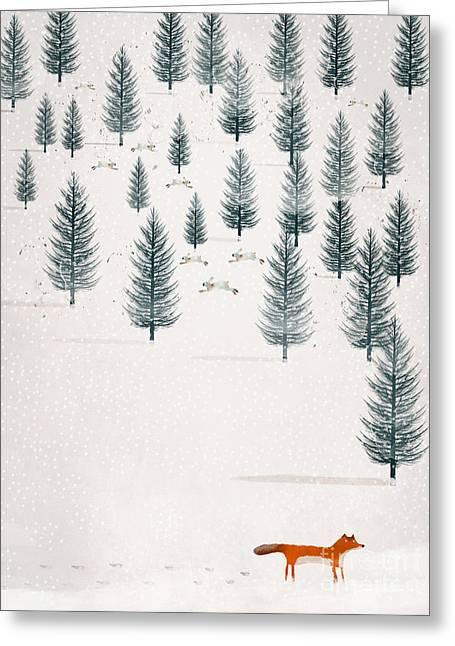 Winters Tale Greeting Card by Bri B