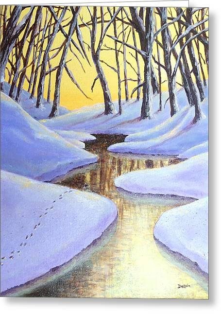 Winter's Warmth Greeting Card by Susan DeLain