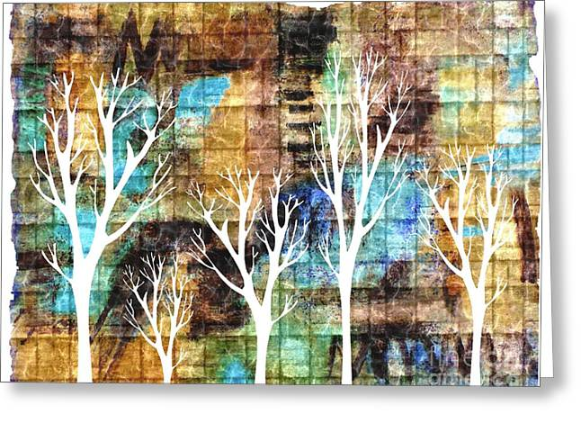 Winterscape 2 Greeting Card by Mimo Krouzian