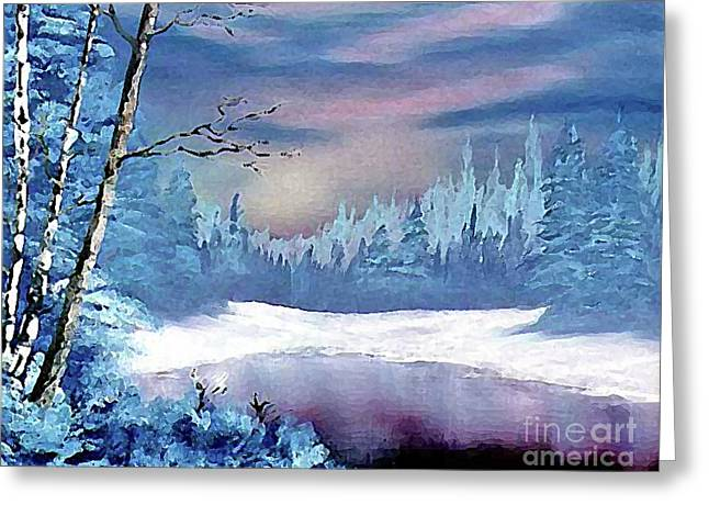 Ebsq Greeting Cards - Winterscape Greeting Card by Dee Flouton