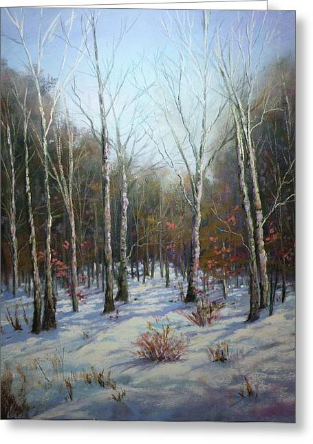 Winterscape Greeting Card by Paula Ann Ford