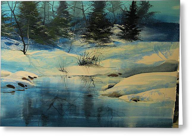 Winterscape Greeting Card by Robert Carver