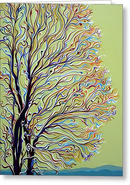 Wintertainment Tree Greeting Card
