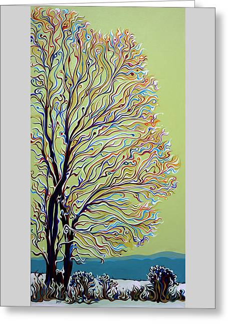 Wintertainment Tree Greeting Card