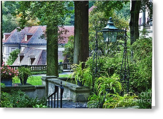 Historic Home Greeting Cards - Winterthur Gardens Greeting Card by John Greim