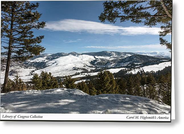 Greeting Card featuring the photograph Wintertime View From Hellroaring Overlook In Yellowstone National Park by Carol M Highsmith