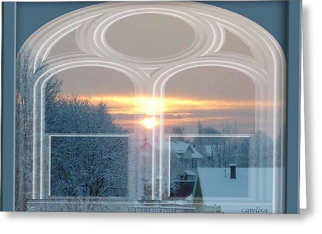Winterview From My Window Greeting Card by Carola Ann-Margret Forsberg
