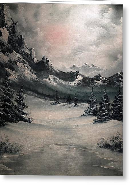 Wintery Mountain Greeting Card by John Koehler