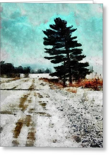 Wintry Altona Road Greeting Card