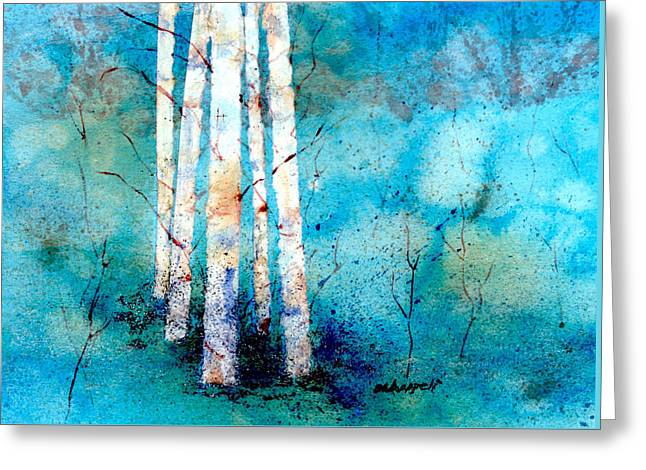 Wintry Aspen Greeting Card