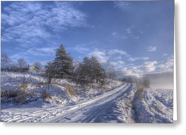 Wintry Road Greeting Card