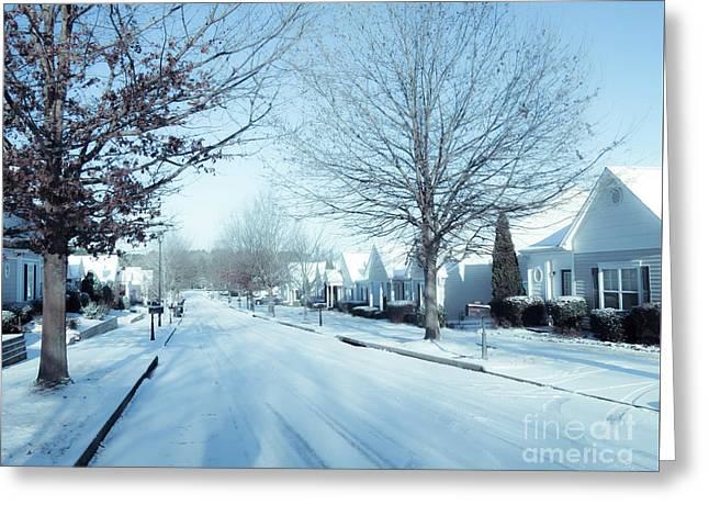 Wintry Snow Fall - Georgia Greeting Card