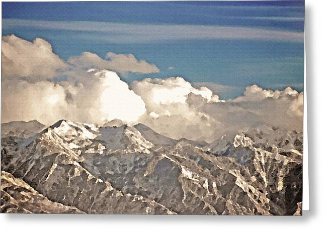 Wintry Wasatch Range Greeting Card by Steve Ohlsen