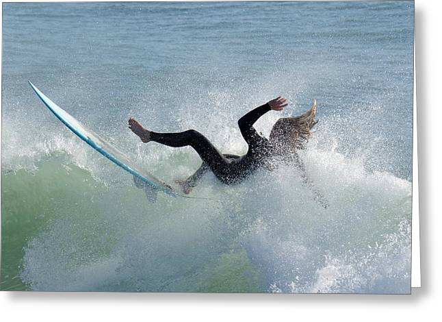 Wipe Out - California Surfer Greeting Card