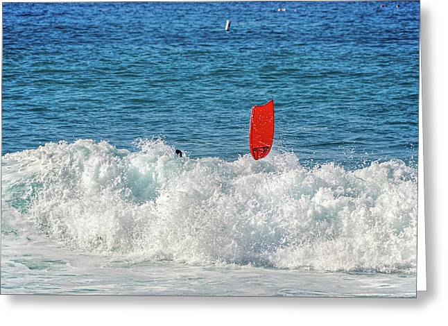 Greeting Card featuring the photograph Wipe Out by David Lawson