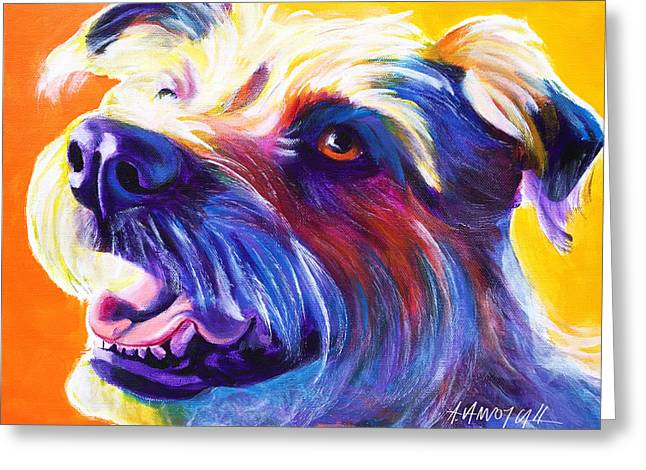 Wire Hair Terrier - Penny Greeting Card by Alicia VanNoy Call