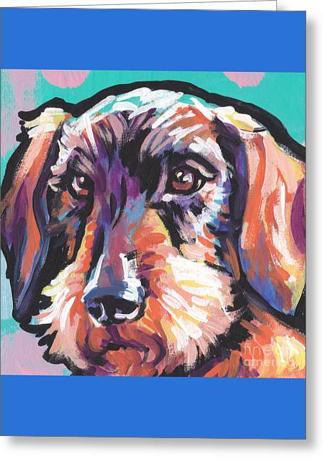 Wire Weenie Greeting Card by Lea S