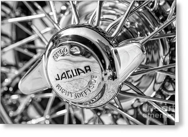 Greeting Card featuring the photograph Wire Wheel Black And White by Dennis Hedberg