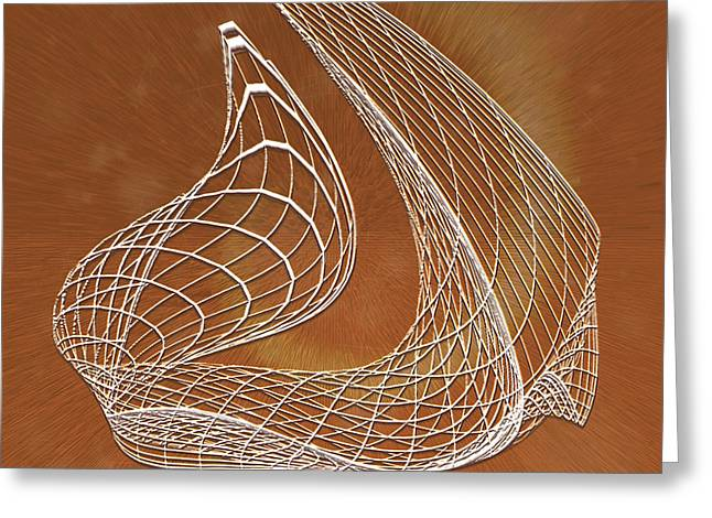 Wires Of Illusions Greeting Card by Eugenia Martini-Jarrett
